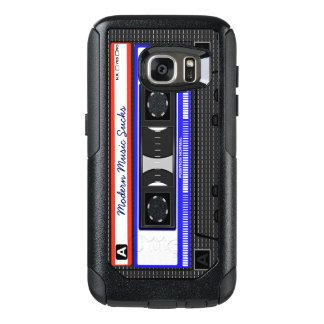 Modern Music Sucks Retro Compact Cassette Funny OtterBox Samsung Galaxy S7 Case