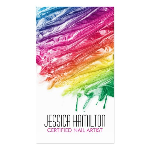 Modern nail artist business card template zazzle for Artist business card examples