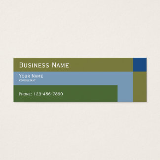 modern natural colors trend mini business card