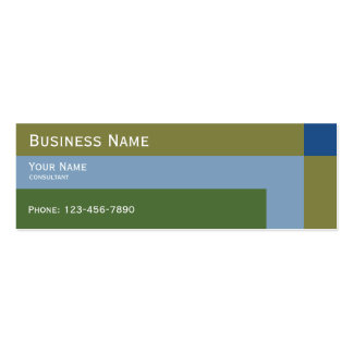 modern natural colors trend pack of skinny business cards