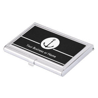 Modern Nautical Theme Business Card Holder