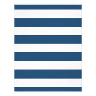 Modern Navy Blue White Stripes Pattern 21.5 Cm X 28 Cm Flyer