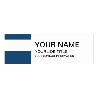 Modern Navy Blue White Stripes Pattern Pack Of Skinny Business Cards