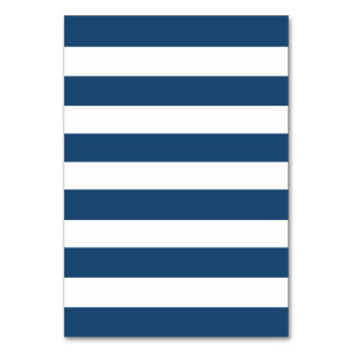 Navy blue and white horizontal stripes horizontal stripes table cards