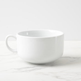 Modern Navy Blue White Stripes Pattern Soup Mug