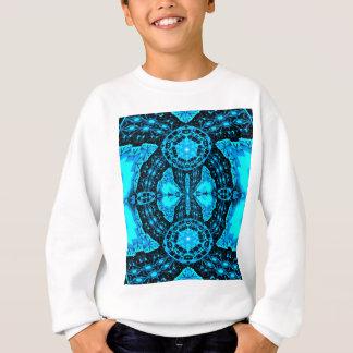 Modern Neon Blue Funky Pattern Sweatshirt