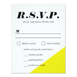 Modern Neon Color Block Wedding Reply Card