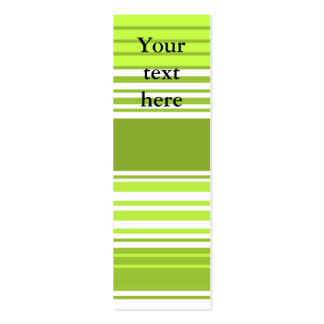 Modern neon green and moss stripes business card template