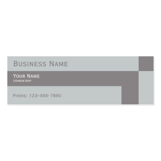 modern neutral colors gray business card