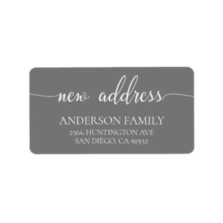 Modern New Address Return Address Label