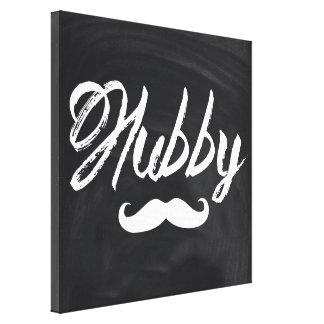 modern newly wed honeymoon groom mustache hubby gallery wrap canvas
