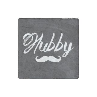 modern newly wed honeymoon groom mustache hubby stone magnet