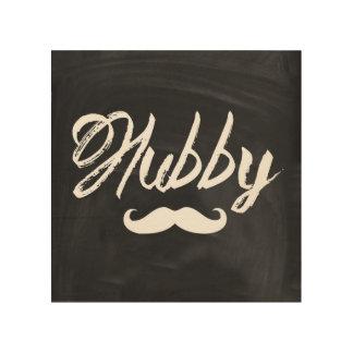 modern newly wed honeymoon groom mustache hubby wood prints