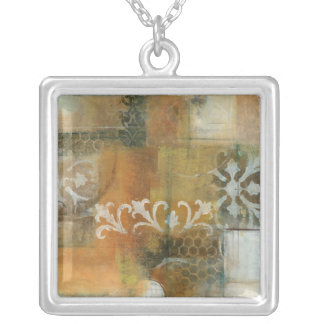 Modern Note II Square Pendant Necklace