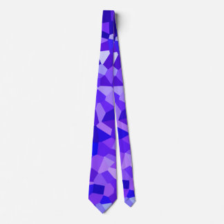 Modern Ocean Blue and Purple Stained Glass Mosaic Tie