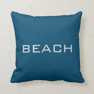 Modern ocean blue colored Beach Sea pillow