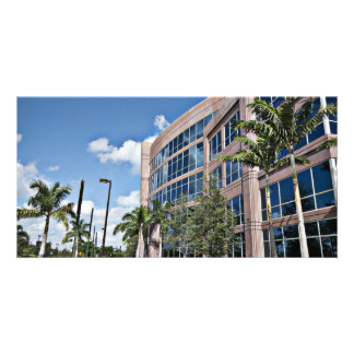 Modern Office Building Architecture Personalized Photo Card