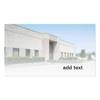 modern office building pack of standard business cards