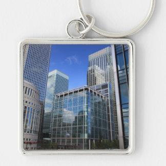 Modern Office Buildings Key Chain