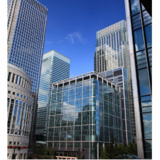 Modern Office Buildings Standing Photo Sculpture