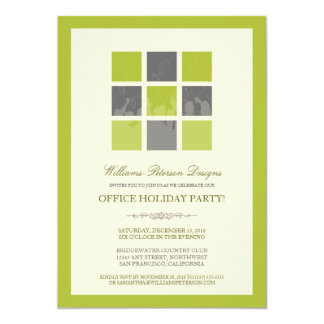 Modern Office Holiday Party Invitation (lime)