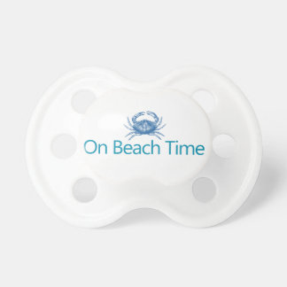 """Modern """"On Beach Time"""" Baby Pacifiers"""
