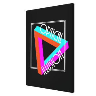 Modern Optical Illusion Triangle Funky Graphic Canvas Print