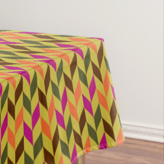 Modern optical leaves tablecloth