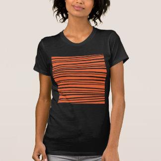 Modern Orange Abstract Tiger Stripes Zig Zag Shirt