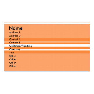 Modern orange and white stripes pack of standard business cards