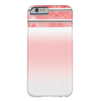 Modern Orange Coral Watercolor Stripe Personalized Barely There iPhone 6 Case