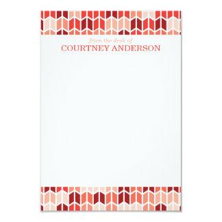 Modern Orange Geometric Pattern Note Cards 9 Cm X 13 Cm Invitation Card