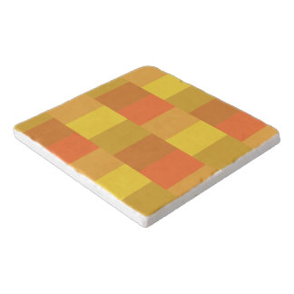 Modern Orange Palette Pattern Trivet