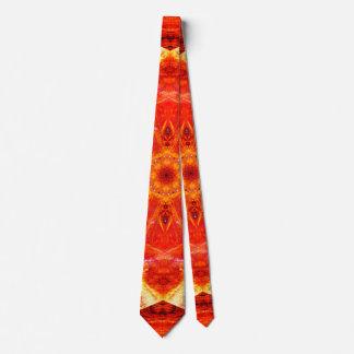 Modern Orange Tie
