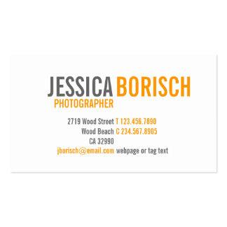 Modern Orange White Grey Business Card