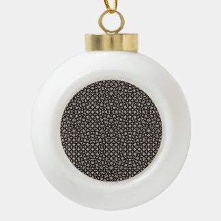 Modern Oriental Pattern Ceramic Ball Christmas Ornament
