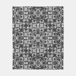 Modern Oriental Pattern Fleece Blanket