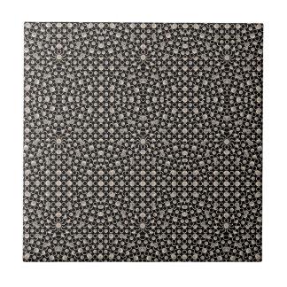 Modern Oriental Pattern Small Square Tile