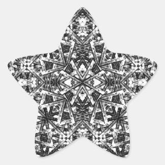 Modern Oriental Pattern Star Sticker