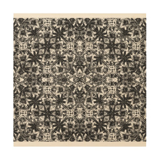 Modern Oriental Pattern Wood Canvases