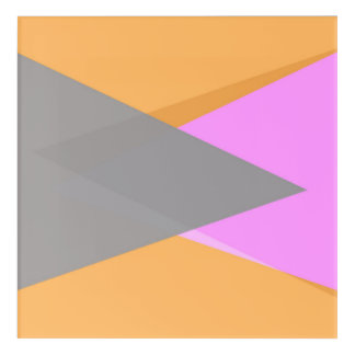 modern original abstract geometricl design acrylic wall art