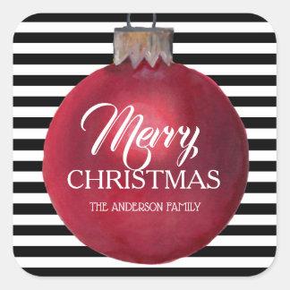Modern Ornament Christmas Stickers