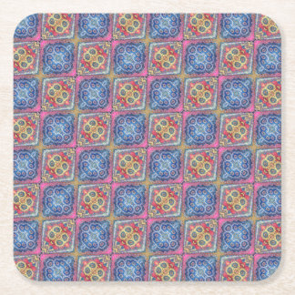 Modern Ornate Seamless Pattern002 Square Paper Coaster