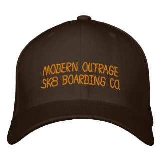 MODERN OUTRAGESK8 BOARDING CO SK8ERS TOP HAT EMBROIDERED HAT