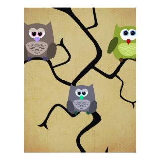 Modern Owl 21.5 Cm X 28 Cm Flyer