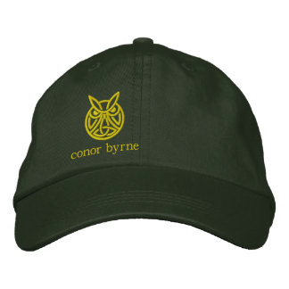 modern owl copy, conor byrne embroidered hat