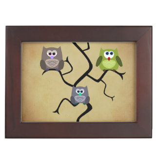 Modern Owl Keepsake Box