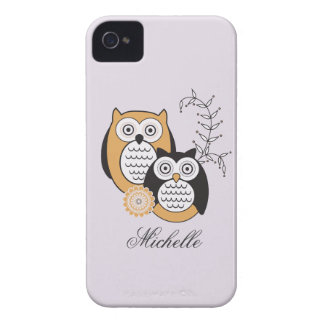 Modern Owls BlackBerry Bold Case-Mate Barely There iPhone 4 Covers