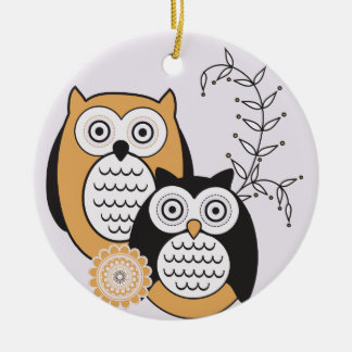 Modern Owls Ornament