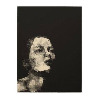 Modern Paint Triangle B&W Woman Wood Paint Wood Prints